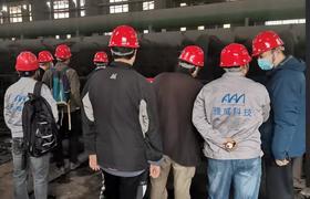 中工国际等四家单位实地考察AAVI雅威离子瀑工业除尘项目