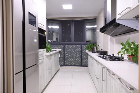 這樣的廚房設計真好看 柏廚廚柜醉花間實拍效果圖